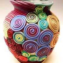 Scrap Filigree Vase