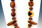 Faux Wood Necklace