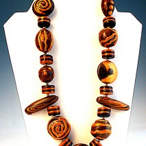 Faux Wood Necklace